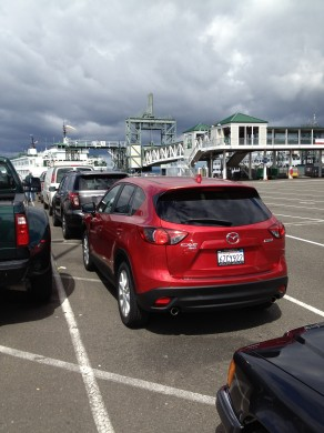 Ferry away from Seattle