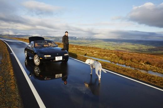 Mazda MX5. 1st generation. Road-Trip in Wales. 17-18-19/02/2014