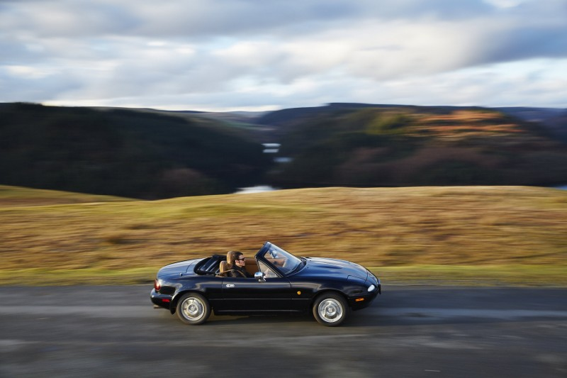 Mazda MX5. 1st generation. Road-Trip in Wales. 17-18-19/02/2014