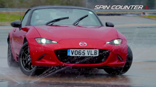 All-new 2016 Mazda MX-5 drifting with James Desaolu, the European 100m sprint champion