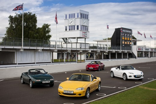 Mazda MX5 At Goodwood. 21st - 22nd June 2015. Photo: Drew Gibson