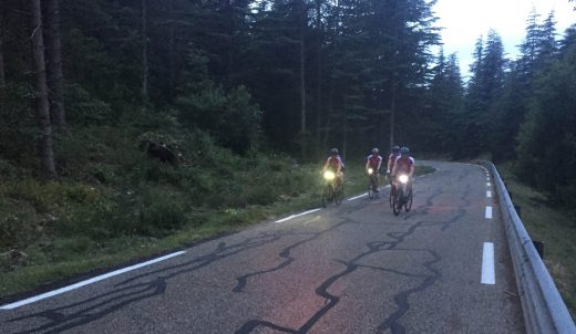 4. 5.45am on the climb from Bedoin