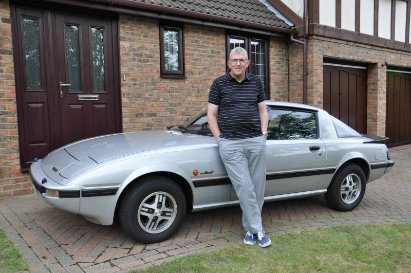 Malcolm Case with his Mazda RX-7 FB sports car
